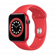 Часы Apple Watch Series 6 GPS, 44mm (PRODUCT)RED Aluminium Case with (PRODUCT)RED Sport Band - Regul