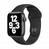 Часы Apple Watch SE GPS, 40mm Space Gray Aluminium Case with Black Sport Band - Regular / MYDP2GK/A
