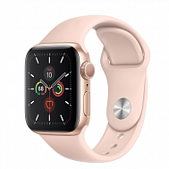 Часы Apple Watch Series 5 GPS Aluminium Case with Pink Sand Sport Band 44mm - Золотые