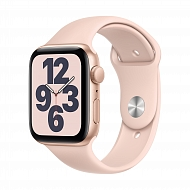 Часы Apple Watch SE GPS, 44mm Gold Aluminium Case with Pink Sand Sport Band - Regular / MYDR2GK/A