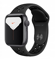 Часы Apple Watch Nike Series 5 GPS Aluminium Case with Anthracite/Black Nike 44mm - Серый космос