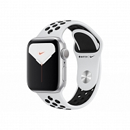 Часы Apple Watch Nike Series 5 GPS Aluminium Case with Pure Platinum/Black Nike 40mm - Серебристые