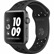 Apple Watch Nike+ Series 3 GPS, 42mm Space Grey Aluminium Case with Anthracite/Black Nike Sport Ban