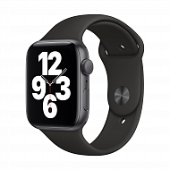 Часы Apple Watch SE GPS, 44mm Space Gray Aluminium Case with Black Sport Band - Regular / MYDT2GK/A