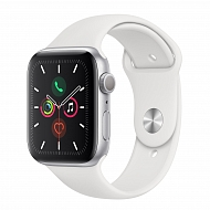 Часы Apple Watch Series 5 GPS Aluminium Case with White Sport Band 44mm - Серебристые