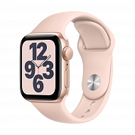Часы Apple Watch SE GPS, 40mm Gold Aluminium Case with Pink Sand Sport Band - Regular / MYDN2GK/A