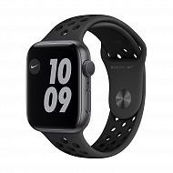 Часы Apple Watch Nike Series 6 GPS, 44mm Space Gray Aluminium Case with Anthracite/Black Nike Sport