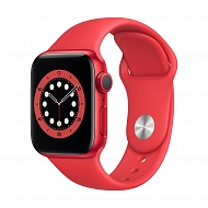 Часы Apple Watch Series 6 GPS, 40mm (PRODUCT)RED Aluminium Case with (PRODUCT)RED Sport Band - Regul