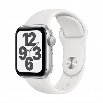Apple_Watch_SE_GPS_40mm_Silver_Aluminum_White_Sport_Band_34R_Screen__USEN_