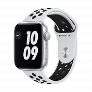 Часы Apple Watch Nike SE GPS, 44mm Silver Aluminium Case with Pure Platinum/Black Nike Sport Band -