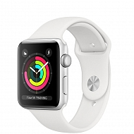 Часы Apple Watch Series 3 GPS Aluminium Case with White Sport Band 42mm - Серебристые