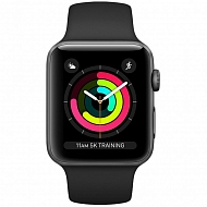 Часы Apple Watch Series 3 GPS Aluminium Case with Black Sport Band 38mm - Серый космос