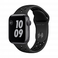 Часы Apple Watch Nike Series 6 GPS, 40mm Space Gray Aluminium Case with Anthracite/Black Nike Sport