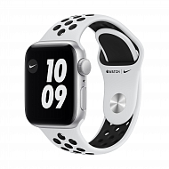 Часы Apple Watch Nike SE GPS, 40mm Silver Aluminium Case with Pure Platinum/Black Nike Sport Band -